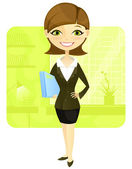 Business Woman — Vector de stock