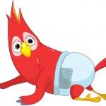 Baby Parrot. — Stock Vector