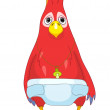 Funny Baby Parrot. — Stock Vector