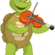 Funny Turtle. Violinist. — Stock Vector #11368561