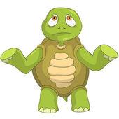 Sad Turtle. — Vector de stock