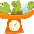 Royalty-Free Stock Vector Image: Funny Turtle. Baby Weighing