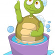 Royalty-Free Stock Vector Image: Funny Turtle. Baby Washing