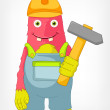 Funny Monster. Contractor. - Stock Vector