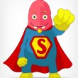 Stock Vector: Funny Monster. Super hero.