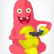 Royalty-Free Stock Vector Image: Funny Monster. Gamer.