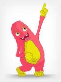 Funny Monster. Painter. — Stock Vector
