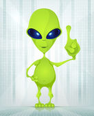 Cute Alien — Stock Vector