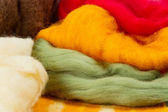 Colorful merino wool for felting — Stock Photo