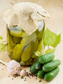 Pickled cucumbers — Stockfoto