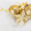 Royalty-Free Stock Photo: Golden Christmas balls