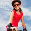 Girl on a bicycle — Stock Photo #12148788