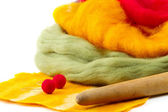 Felt making, felting — Stock Photo