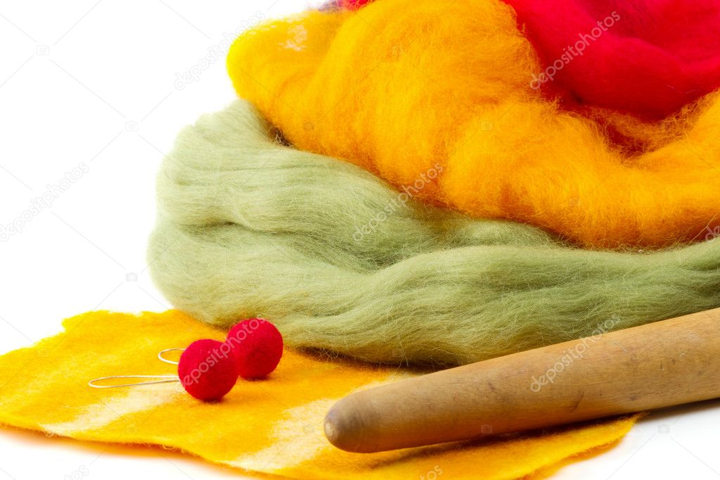 Felt making, felting  Stock Photo #12173388