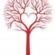 Heart tree, vector background - Imagen vectorial
