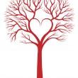 albero cuore, sfondo vettoriale — Vettoriale Stock