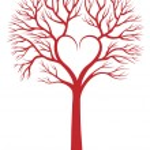 Heart tree, vector background — Stock Vector