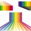 Colorful stripes vector backgrounds — Stok Vektör