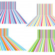 Colorful striped backgrounds, vector — Vettoriali Stock