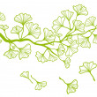 Ginkgo branch with leaves, vector — Imagen vectorial