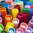 Close-up of colour pens — Stock Photo