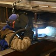 Welding steel — Stock Photo