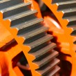 Orange steel wheels - Stock Photo