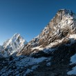 Cho La pass peaks at dawn in Himalaya mountains — Stock Photo