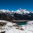 Top of the world: Everest, Lhotse, Makalu, Nuptse — Stock Photo