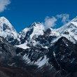 Himalaya peaks: Pumori, Changtse, Nirekha and side of Everest — Stock Photo #11785929