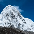 Stock Photo: Snowed Pumori summit in Himalaya