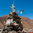 Buddhist stupe or chorten in Himalayas — Stock Photo