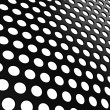Close up of Black grill with holes on white — Stock Photo #11788778