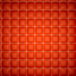 Stock Photo: Segregation or Isolation: Red stitched leather mattresses