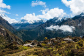 Ama Dablam and Lhotse peaks: Himalaya landscape — Stock Photo