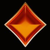 Card suits: golden diamonds over black — Stock Photo
