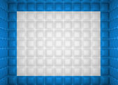Soft room concept. Blue and white stitched leather pattern — Stock Photo
