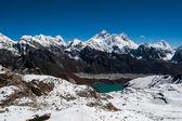 Top of the world: Everest, Lhotse, Makalu, Nuptse — Stock Photo