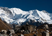 Mountain range in the vicinity of Cho oyu peak — Stock Photo