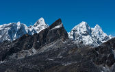 Mountain range viewed from Renjo pass in Himalayas — Stock Photo