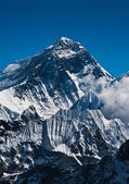 Everest Mountain Peak or Sagarmatha: 8848 m — Stock Photo