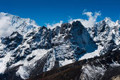 Mountain ridge scene viewed from Renjo pass in Himalayas — Stock Photo