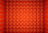 Segregation or Isolation: Red stitched leather mattresses — Stock Photo