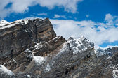 Landscape viewed from Gokyo Ri summit in Himalayas — Stock Photo