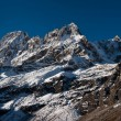 Stock Photo: Snowed up mountains near Gokyo