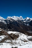 Pumori, Changtse and Nirekha peaks view from Renjo pass — Stock Photo