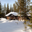 Stock Photo: Romantic chalet in Lapland