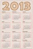 календарь 2013 — Cтоковый вектор
