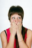 Frightened girl — Stock Photo