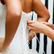 Lace bridal corset — Stock Photo